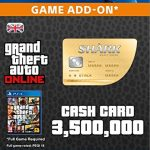 Grand Theft Auto Online: Whale Shark Cash Card [PS4 PSN Code – UK account]