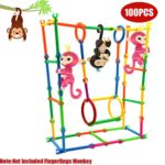 JACKY-Store Colorful Interactive Baby Monkey Building Create Playground Assorted Enginnering DIY House for Baby Monkey (100pc)