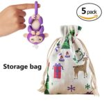 Bag For Fingerlings Baby Monkey , JYC Portable Kids Play Storage Bag Toys Rug Box Little Baby Monkey Christmas Candy Bag (B-5 pack)