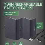 Venom Xbox One Rechargeable Battery Twin Pack: Black (Xbox One / Xbox One S / Xbox One X)