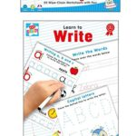 Learn To Write – Spelling Writing & Reading 20 Wipe-Clean Worksheets with Pen
